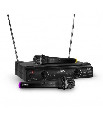 Party 200UHF - Sistema de micrófonos, inalámbrico
