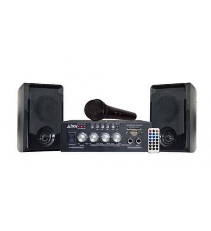 Party KA100 - Sistema Karaoke, incluye amplificador, incluye altavoces, incluye micrófono