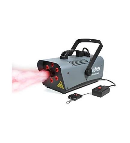 Party FOG1200LED - Máquina de humo, potencia 1200w, efecto de luz, tecnología LED