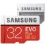 Samsung MB-MC32GA EVO+ - Tarjeta MicroSD, capacidad 32 GB, clase 10, incluye adaptador