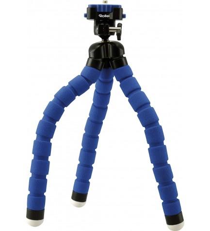 Rollei 20798 Monkey - Trípode, 360 grados, máxima extensión 27 cm, color azul