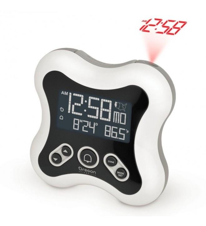 Oregon RM331P - Reloj, proyector incorporado, color Blanco
