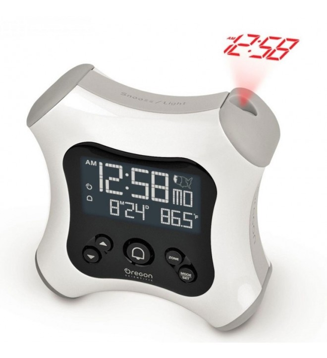 Oregon RM330P - Reloj, proyector incorporado, color Blanco
