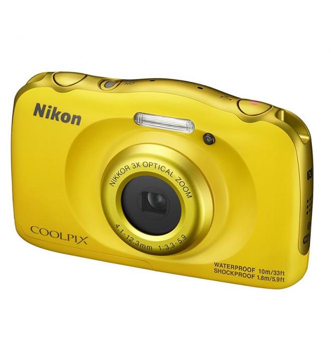 Nikon Coolpix W100 - Cámara, resolución 13 Mpx, color Amarillo