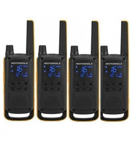 Motorola T82 - Walkie Talkie, pack de cuatro