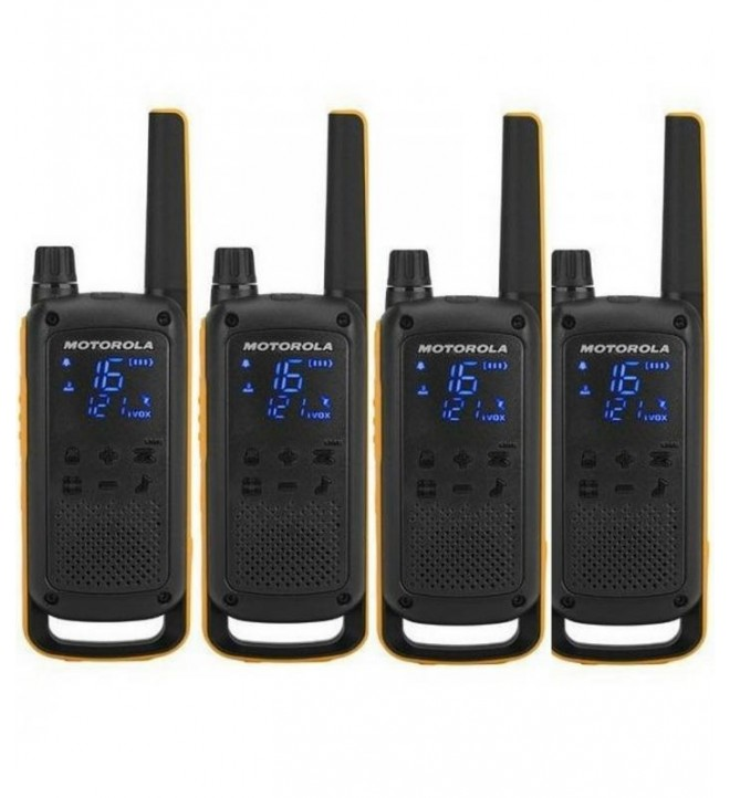 Motorola T82 - Walkie Talkie, pack de cuatro