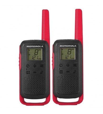 Motorola T62 Pack - Walkie Talkie, incluye cargador, color Rojo