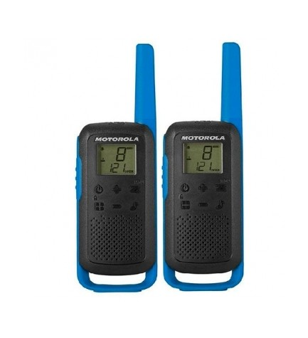 Motorola T62 Pack - Walkie Talkie, incluye cargador, color Azul