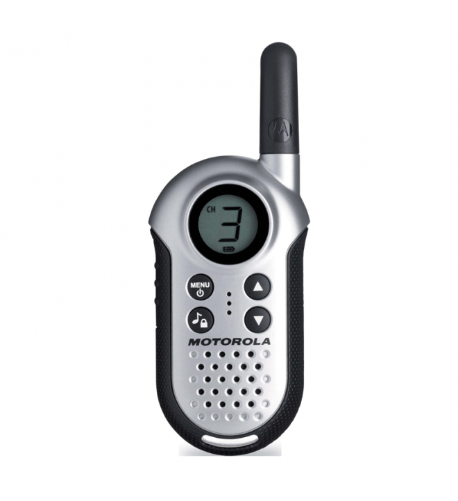 Motorola TLKR-T4 - Walkie Talkie, color Plata