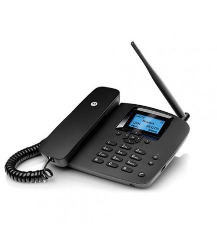 Motorola FW200L - Teléfono de mesa, SIM, color Negro