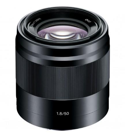 Sony SEL 50mm F1.8 - Objetivo, color Negro