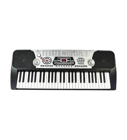 Madison MEK54100 - Órgano, incluye soporte, incluye micrófono, color Negro