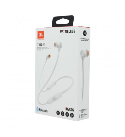 JBL T110BT - Auricular bluetooth, micrófono incorporado, color Blanco