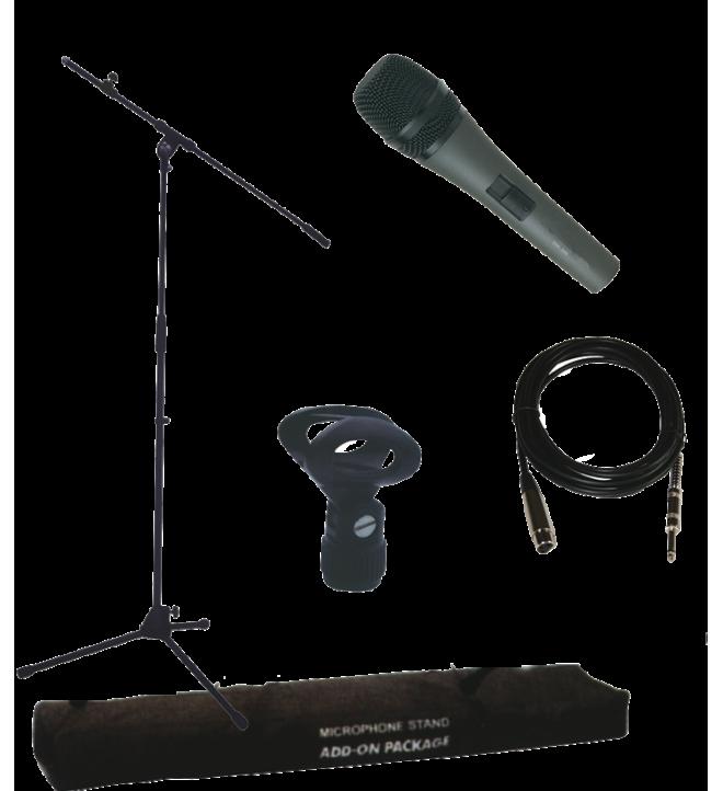 Ibiza SMPACK - Pack accesorios, micrófono soporte bolsa