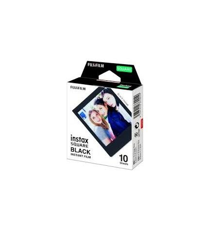 Fujifilm Instax Square SQ10 - Película instantánea, pack de 10 films, color Negro