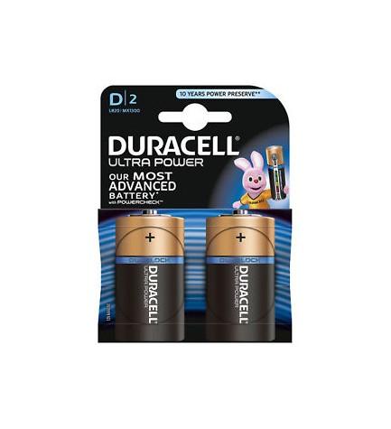 Duracell D LR20 ULTRA POWER - Pila, pack 2