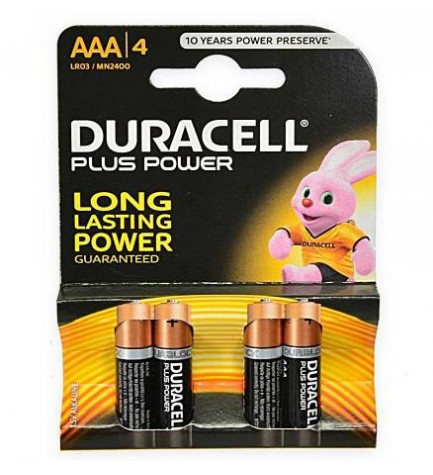 Duracell LR03 PLUS POWER - Pila, pack 4