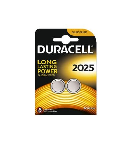 Duracell CR2025 - Pila, pack 2