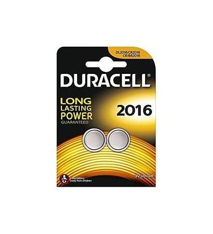 Duracell CR2016 - Pila, pack 2