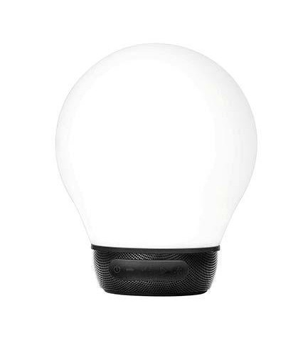 Divoom AURABULB - Altavoz bluetooth, luces 5 colores, color Negro