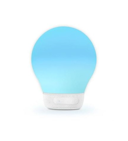 Divoom AURABULB - Altavoz bluetooth, luces 5 colores, color Blanco