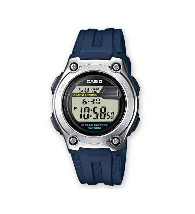 Casio W-211 2A - Reloj, color Azul