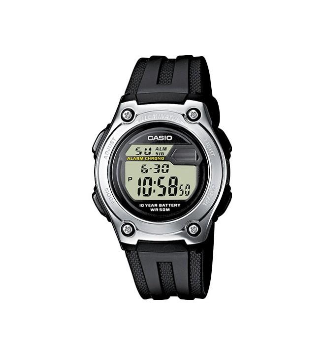 Casio W-211-1A - Reloj, color Negro