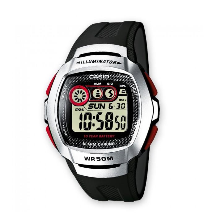 Casio W-210-1D - Reloj, color Plata Negro