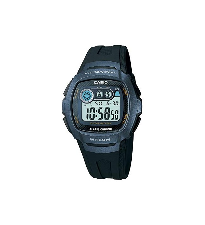 Casio W-210 - Reloj, color Azul Negro