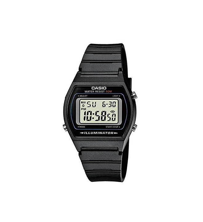 Casio W-202 - Reloj, digital, color Negro