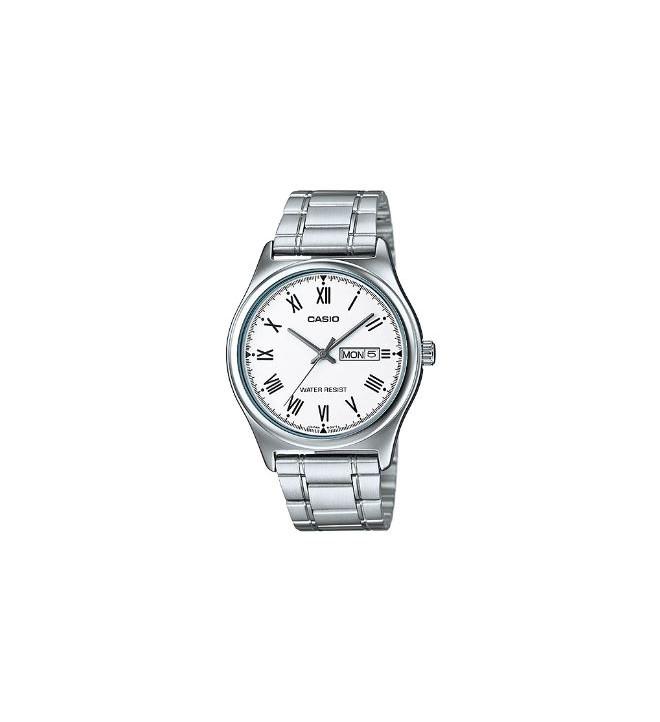 Casio MTP-V006D-7B - Reloj, material acero, esfera blanca
