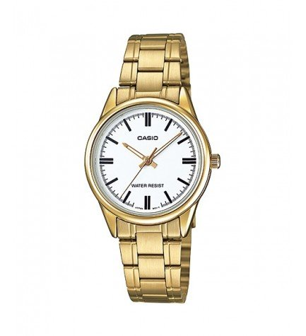 Casio LTP-V005G-7B - Reloj, esfera blanca, color Dorado