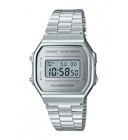 Casio A-168WEM-7E - Reloj, esfera plata, color Plata