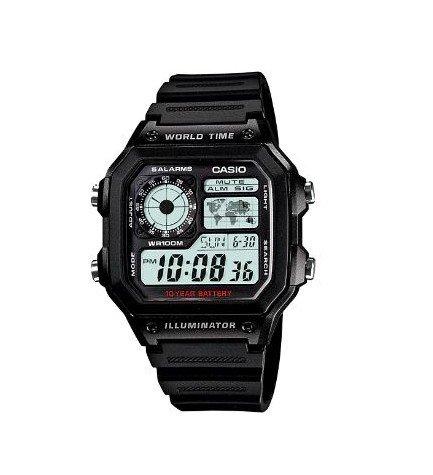 Casio AE-1200WH-1A - Reloj, caucho, color Negro