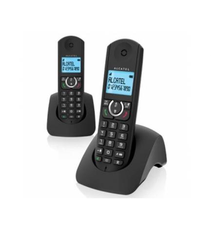 Alcatel F380 DUO - Teléfono inalámbrico, color Negro