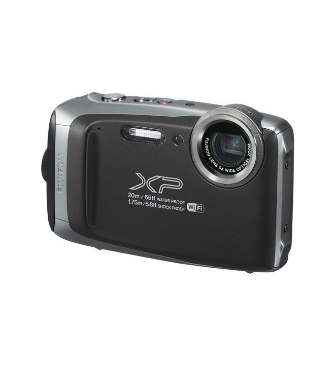 Fujifilm XP130 - Cámara acuática, 16.4 Mpx, estabilización de imagen, pantalla LCD 3 pulgadas, color Plata