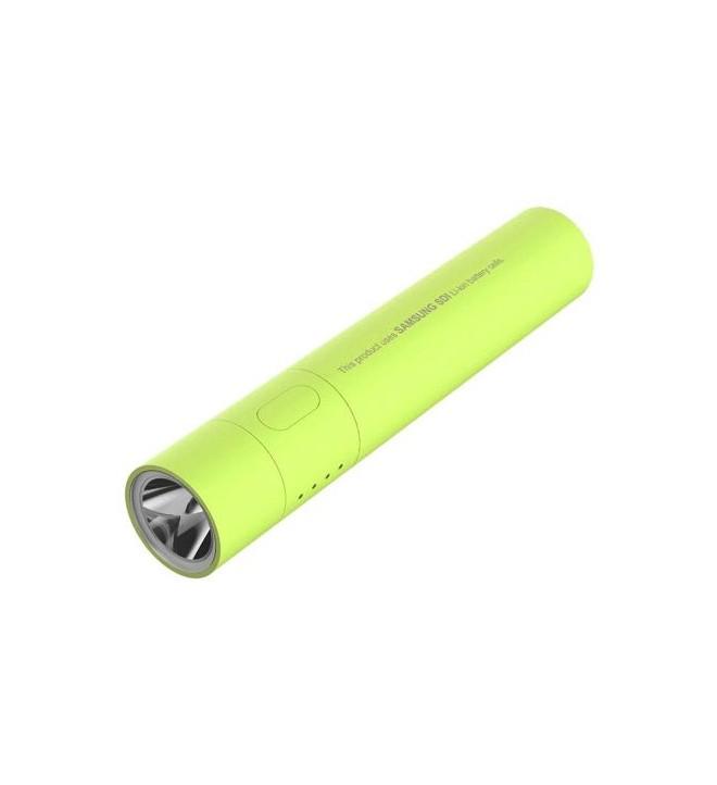 TSST TB030NA - Batería externa, PowerBank, capacidad 3000 mAh, linterna incorporada, color Verde