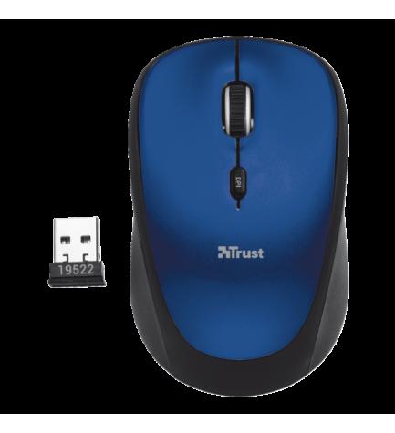 Trust YVI - Ratón inalámbrico, de ordenador, color Azul Negro