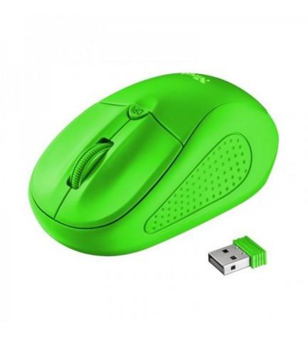 Trust PRIMO - Ratón inalámbrico, de ordenador, color Verde Neon