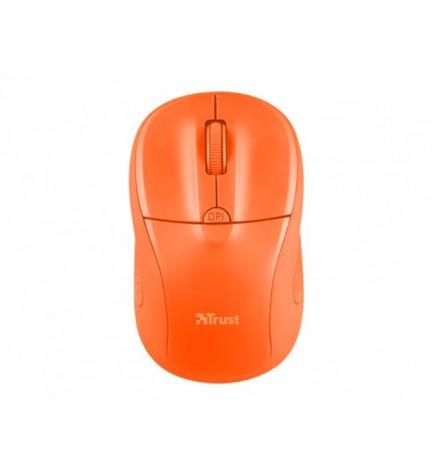 Trust PRIMO - Ratón inalámbrico, de ordenador, color Naranja