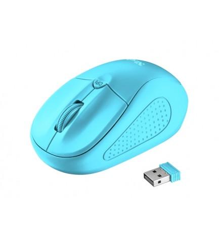 Trust PRIMO - Ratón inalámbrico, de ordenador, color Azul Neon