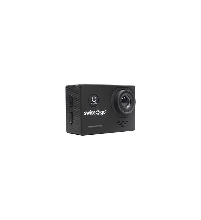 Swiss+GO SG-1.0 - Cámara de acción, resolución Full HD, color Negro