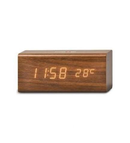 Swiss+GO DSG718 - Despertador, termómetro, calendario, material madera