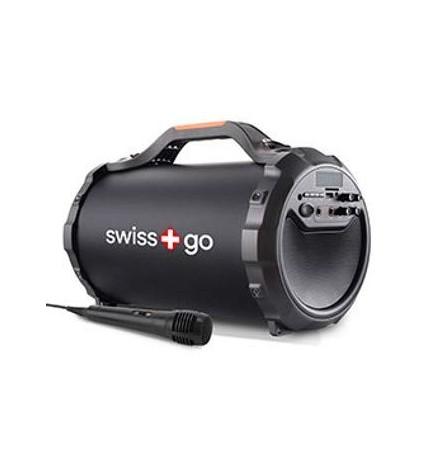 Swiss+GO ARA P30 - Altavoz bluetooth, sintonizador FM, puerto USB, potencia 28w