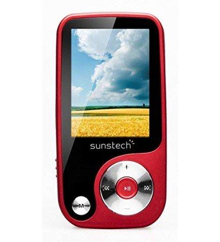 Sunstech THORN - Reproductor MP4, pantalla 1.8 pulgadas, capacidad 4 GB, sintonizador FM, ranura SD, color Rojo