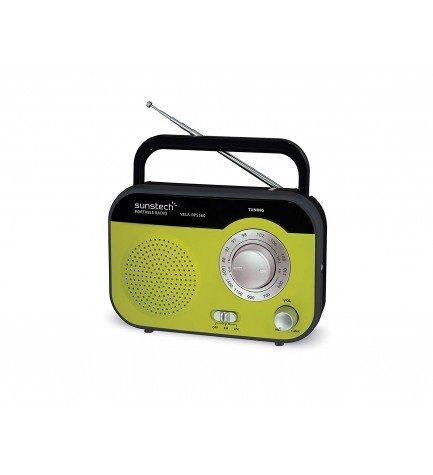 Sunstech RPS560 - Radio, sintonizador AM FM, color Verde