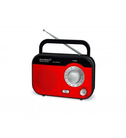 Sunstech RPS560 - Radio, sintonizador AM FM, color Rojo