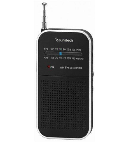 Sunstech RPS44 - Radio, de bolsillo, sintonizador AM FM, color Plata