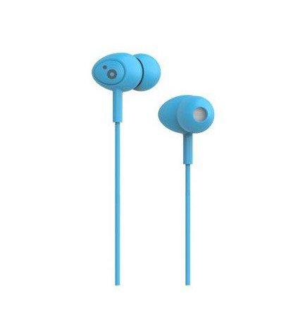 Sunstech POPS - Auriculares de botón, micrófono incorporado, longitud 1.2 metros, color Azul