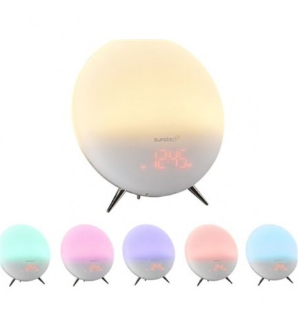 Sunstech FRLAMP1 - Radio despertador, color Blanco